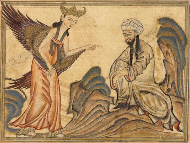 Angel Gabriel visits Muhammad
