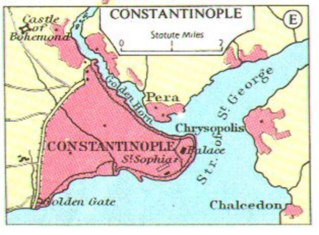 The Byzantine Empire falls