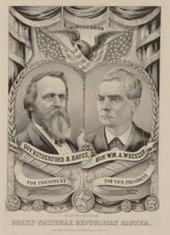 Hayes Wins Disputed Presidency