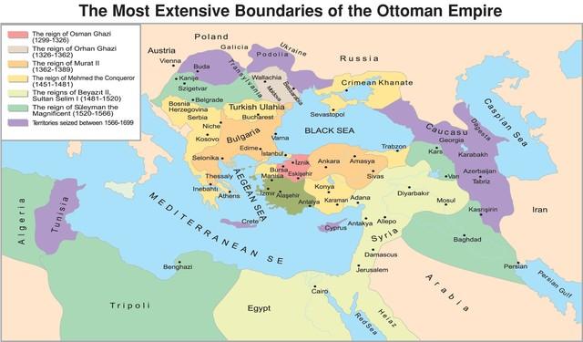 The Ottoman Empire falls