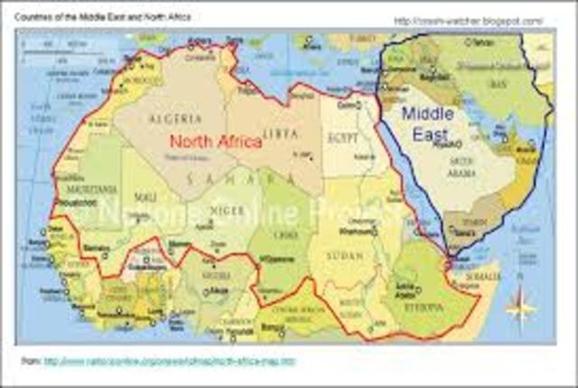 islam begins to spread throught north africa