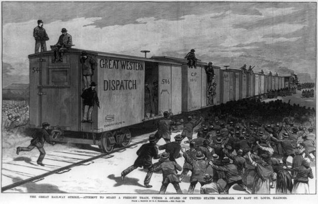 Knights of Labor Strike Railroad