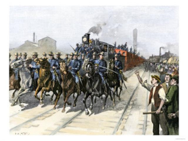 Federal Troops Crushed Pullman Strike