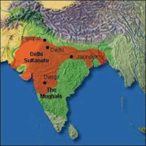 The Delhi Sultanate was created