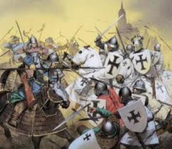 Christian Crusaders capture Jerusalem