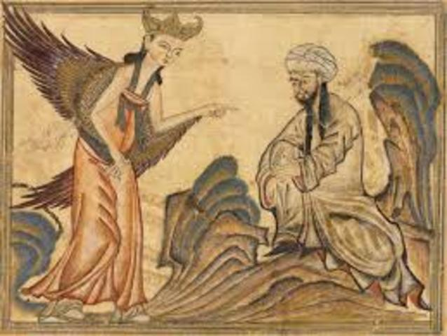 Muhammad is visited by angel Gabriel