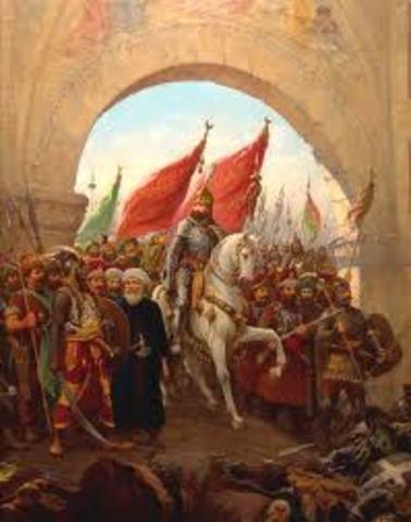 Muhammad II caputred Constantinople