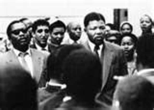 Nelson Mandela is charged of treason