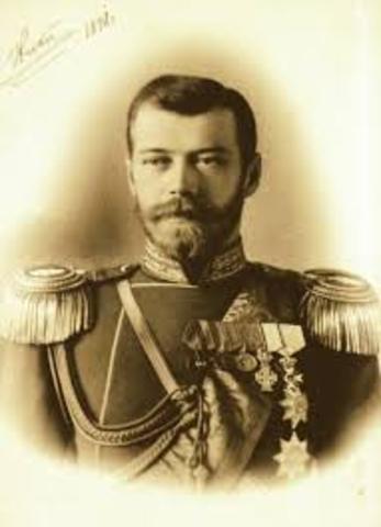Tsar Nicholas II abdicates