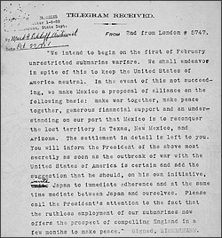 Zimmerman Telegraph found