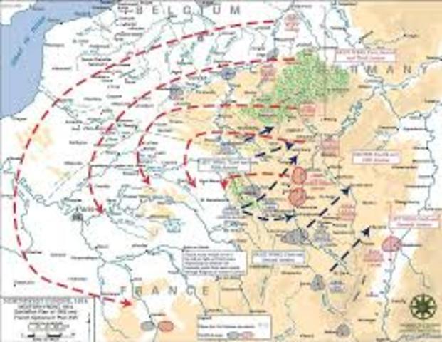 The Schlieffen Plan put into Action
