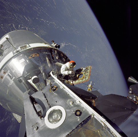 Apollo 9 Launch -- test docking between command service module and lunar module