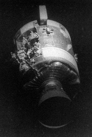 Apollo 13 Launch -- explosion on board