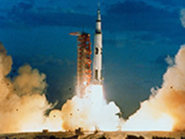 Apollo 4 Launch -- first test of Saturn V rocket