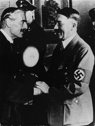 """Neville Chamberlain-""""peace with honor"""""""