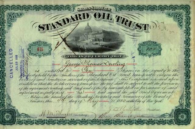 John Rockefeller Starts Standard Oil Company