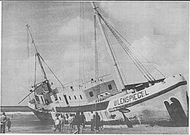 Storm verwoest het schip de Uilenspiegel