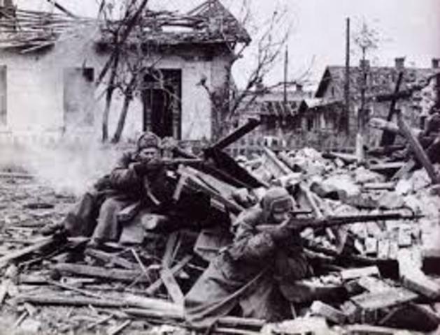Tyska 6:e armén ger upp vid Stalingrad