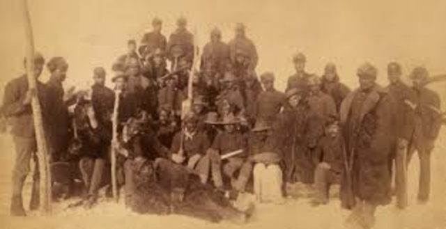 settlers and native american lived alongside one another