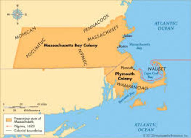 mass Bay Colony established