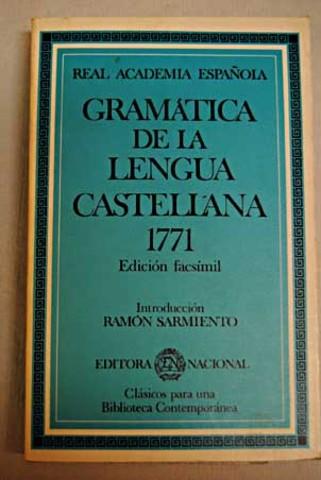 Gramatica de la Lengua Española