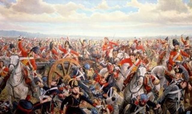 Napoleon Defeated at Battle at Waterloo