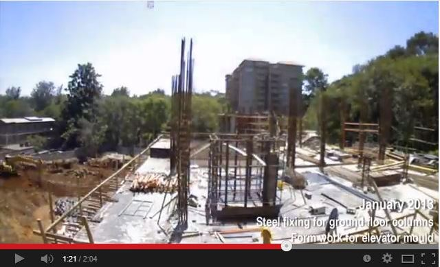 Trident Grand Riverside - Construction from March 2013 - March 2014 (12months)