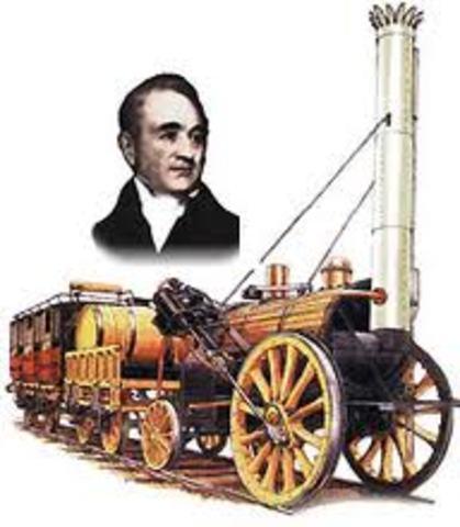 stephenson construye la primera locomotora de vapor