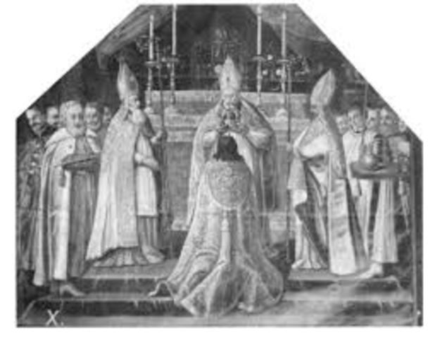 The coronation of King John