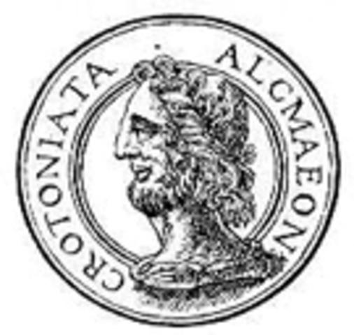 590 год до н.э. Алкмеон из Кретоны