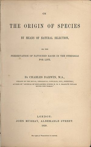 """TOC: Darwin Publishes """"On the Origin of Species"""""""