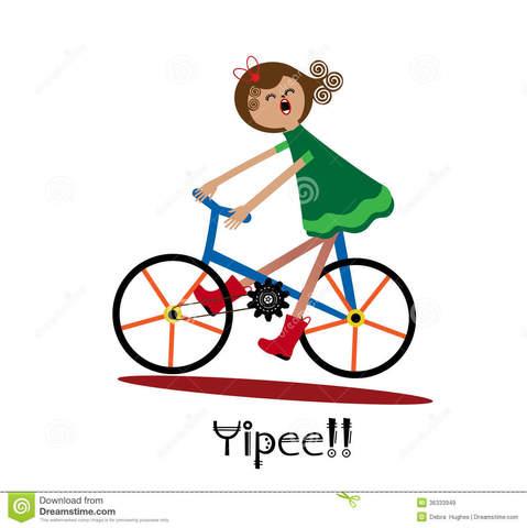aprendidé a andar en bicicleta
