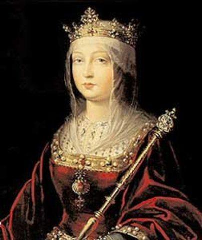 Colon es recibido por la reina Isabel