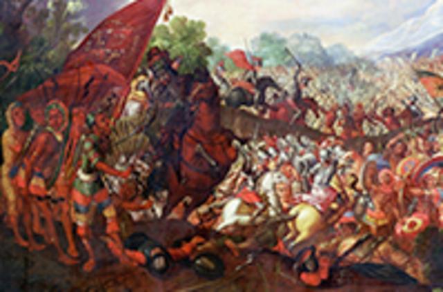 Cortés asedia Tenochtitlan