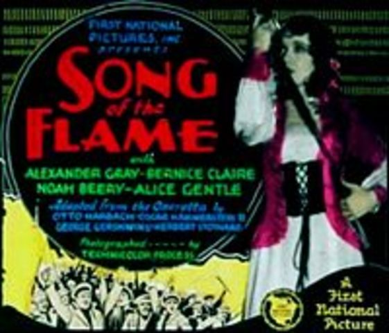 """First talking movie """"Song of the Flames"""""""