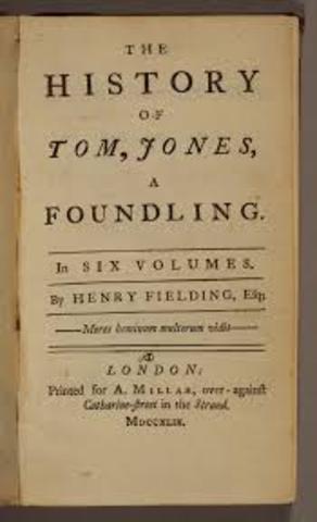 Tom Fielding writes the novel Tom Jones