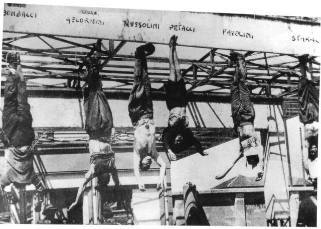 Muere Mussolini