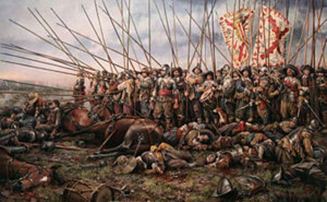 Francia se alió con los holandeses y con Suecia y entró en la guerra