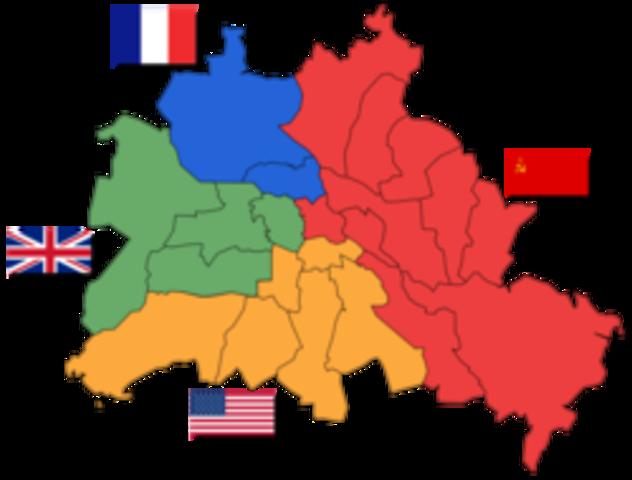 Sovjet lager blokade mellom sin del av Berlin og de andre landes