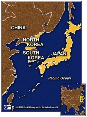 Korea frigir seg fra Japan