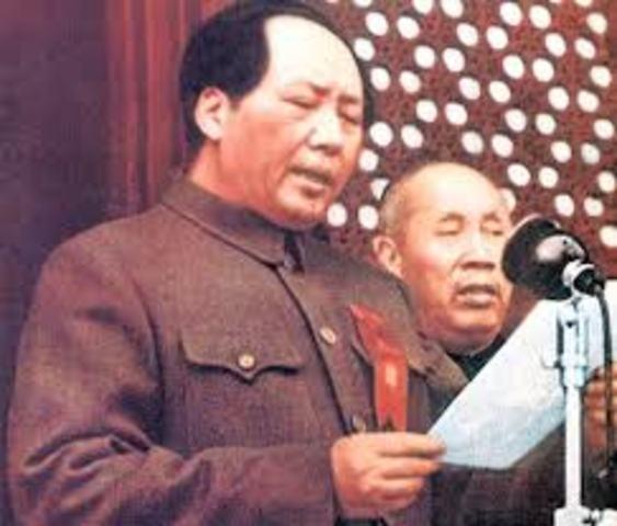 Mao's economic plan fails