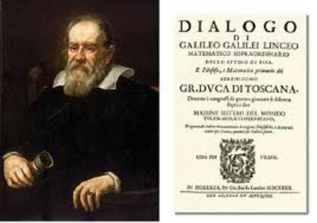 Galileo publishes his many finding in Dialogue Concerning the Two Chief World Systems