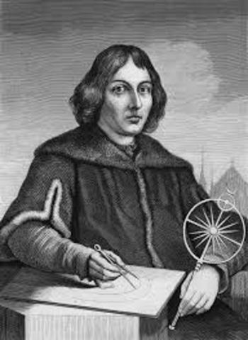 Nicolaus Copernicus beings studying planetary movement