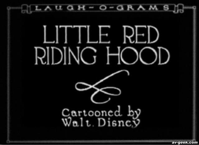 "Walt Disney's ""Little Red Riding Hood"""