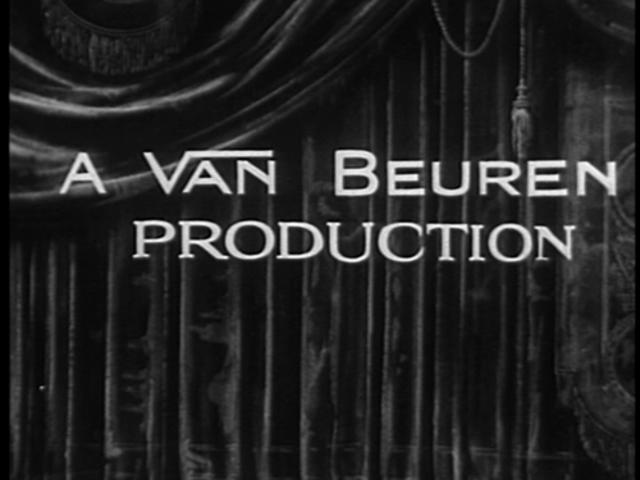 Van Beuren Studios creates a black and white cartoon