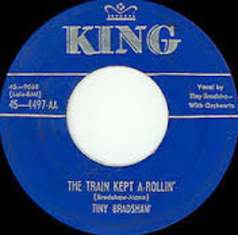 "Tiny Bradshaw records ""Train Kept a Rollin"""