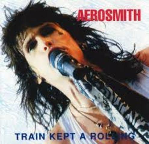 "Aerosmith records ""Train kept a Rollin"""