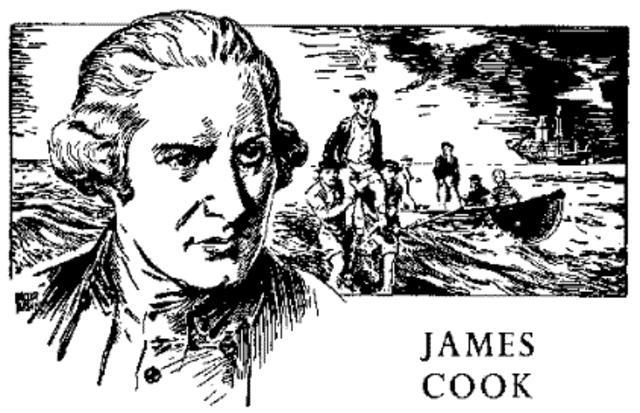 Captain James Cook claims Australia for England