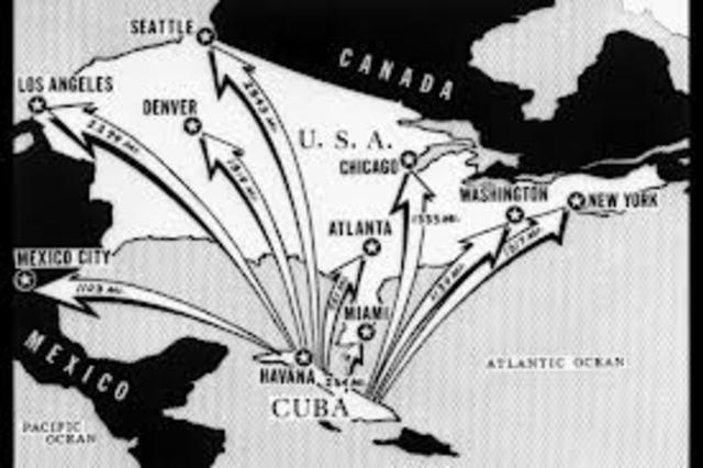 Sovjetunionen får plassere missiler og atomraketter på Cuba.