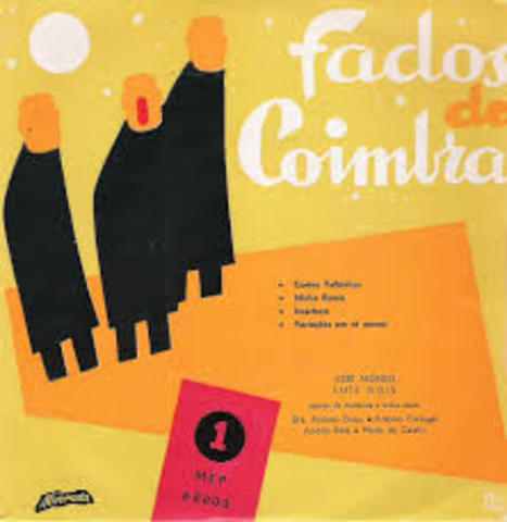 Grava o primeiro LP - «Fados de Coimbra»